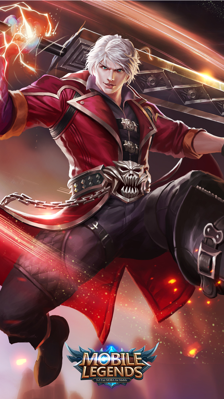 Hd wallpaper mobile legends - Mobile Legends Alucard Demon Hunter