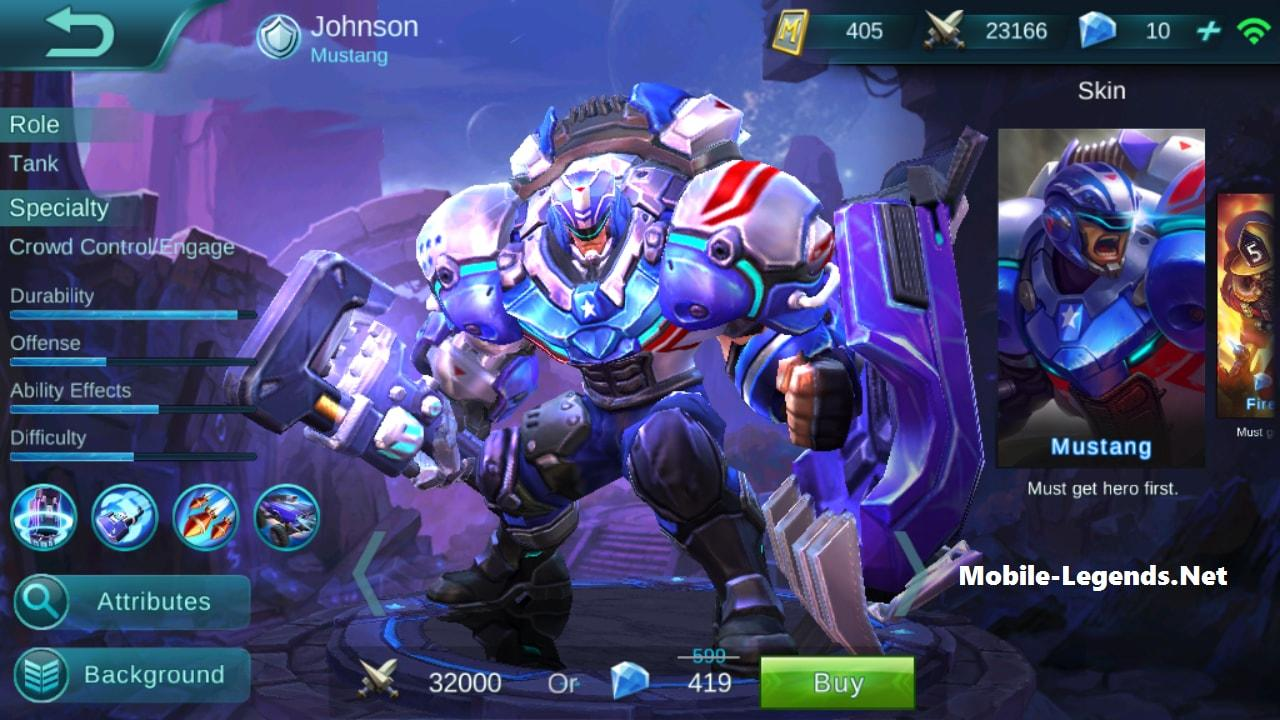 Image Result For Mobile Legends Johnson