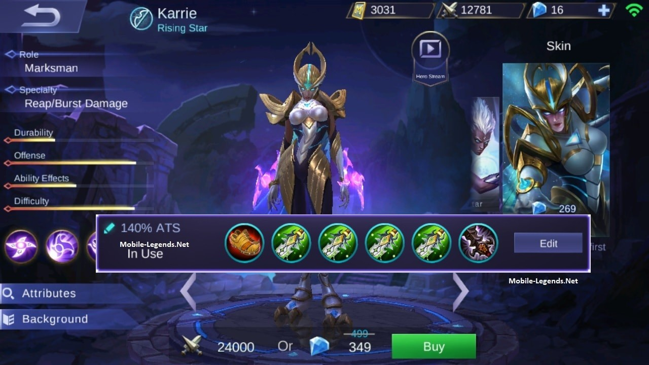 Mobile Legend Karrie Build