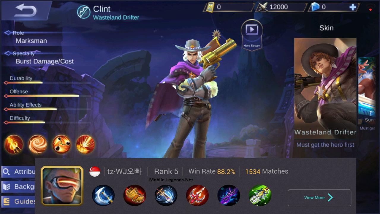 Clint High Damage Build