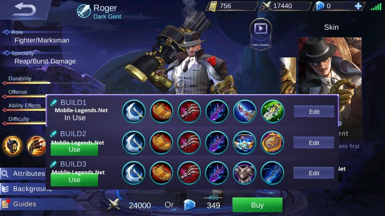 Roger Guide-Tips and Builds 2019 - Mobile Legends