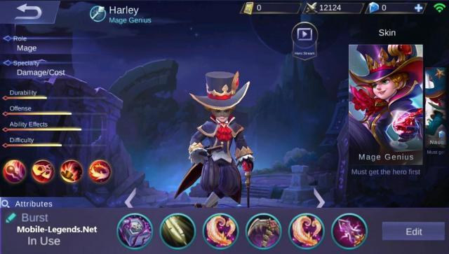 Harley High Damage Magic Build