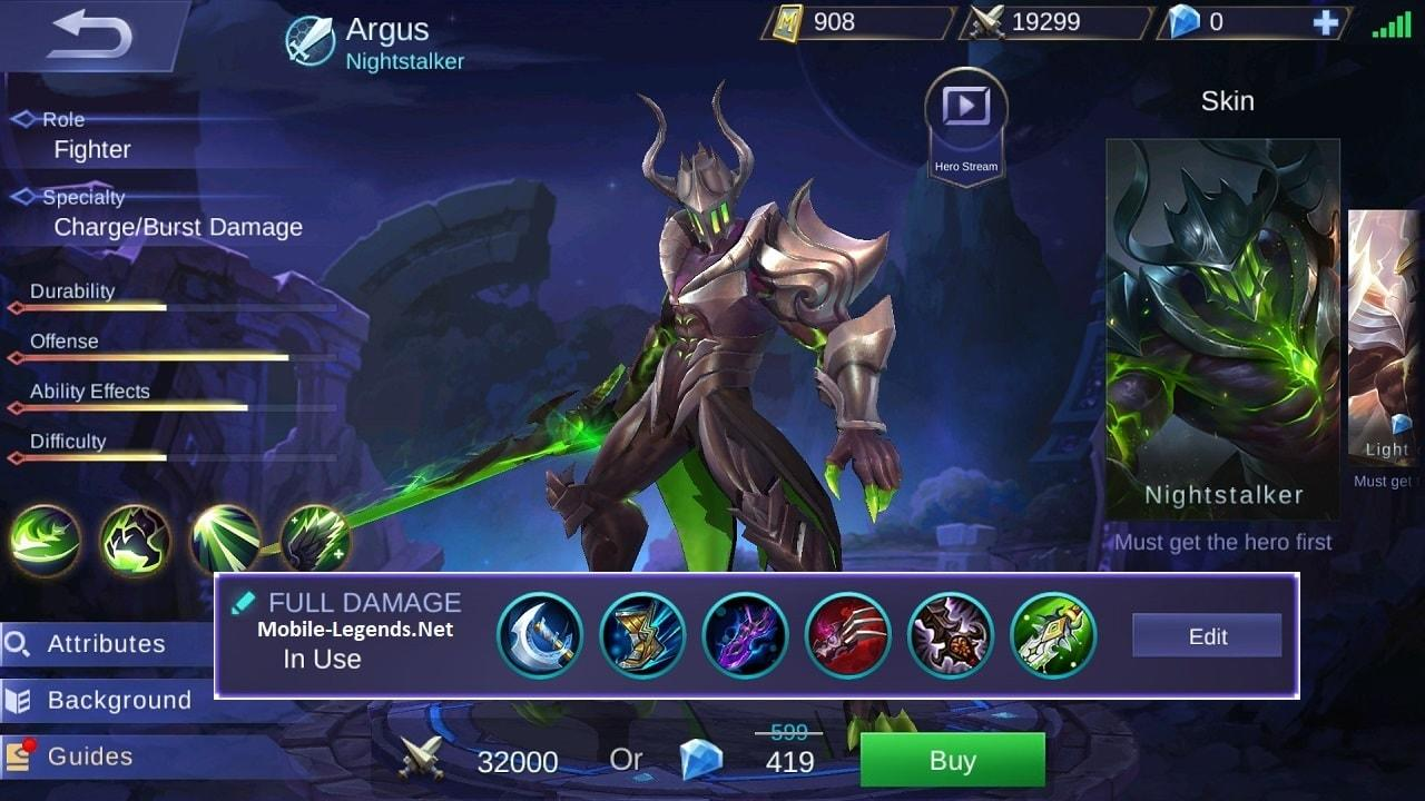 Argus Full Damage Build 2020 - Mobile Legends