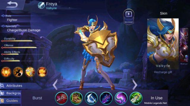 Freya Burst Damage Build