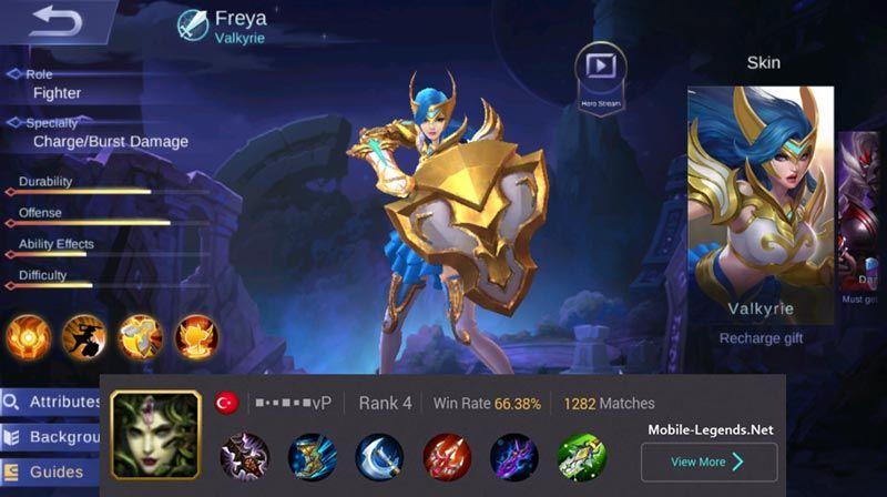 Freya Unstoppable Damage Build 2019 - Mobile Legends