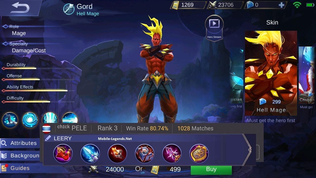 Mobile Legends Gord Leery Build
